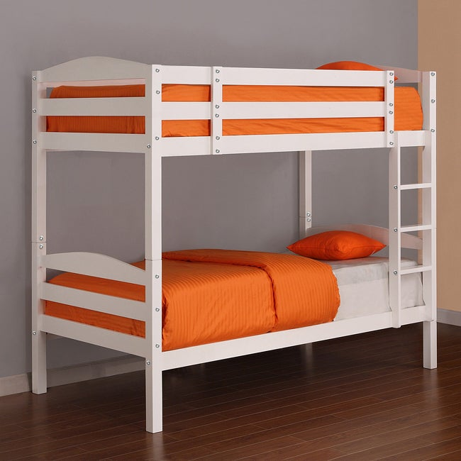solid wood white twin bunk bed overstock