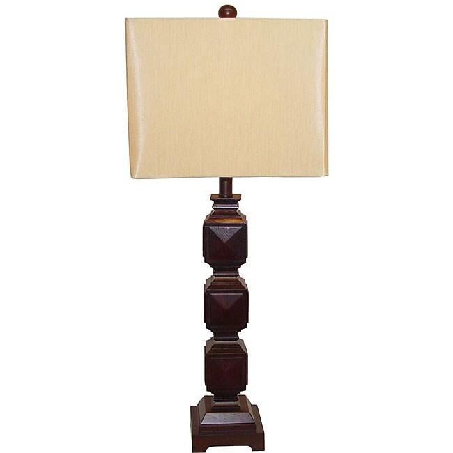 Ramoncito Espresso Square Wood Table Lamp