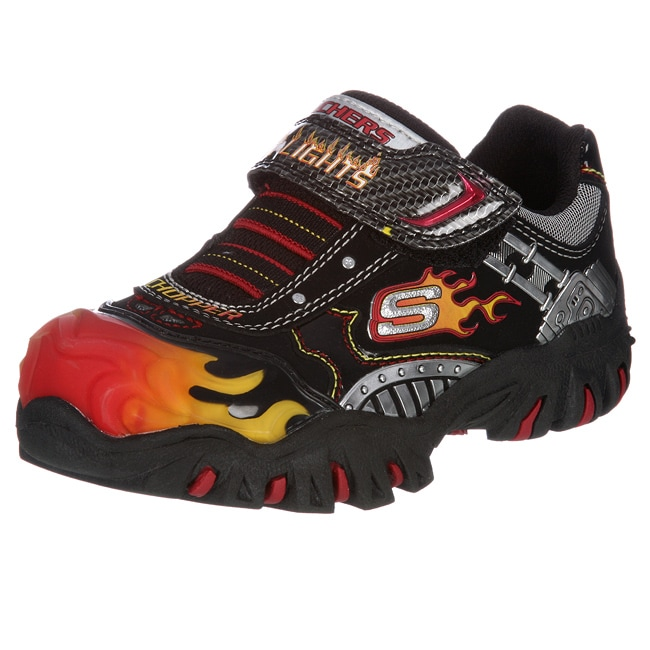 skechers boys 39 skx chopper 39 light up gore strap hot light sneakers. Black Bedroom Furniture Sets. Home Design Ideas
