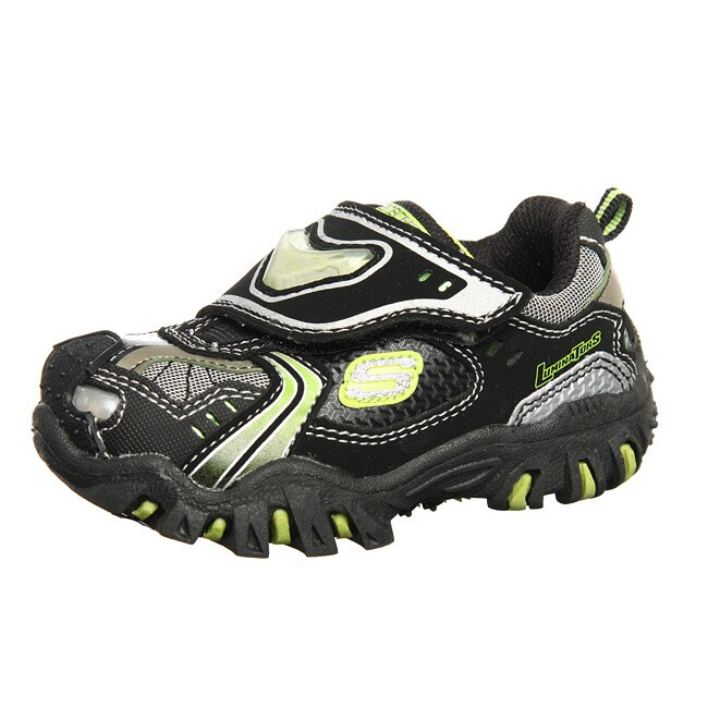 skechers toddlers boy 39 s luminators 39 spaceship 39 leather light up s. Black Bedroom Furniture Sets. Home Design Ideas