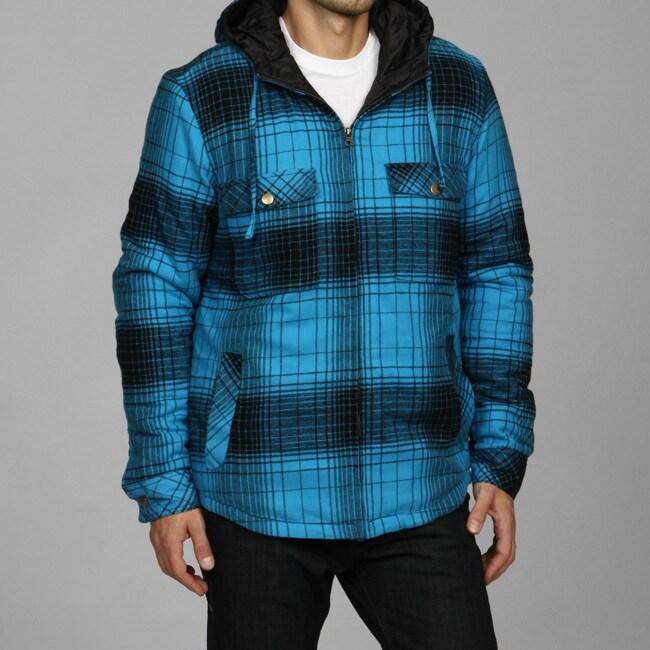 Burnside men s quilted flannel shirt jacket 13076948 overstock com