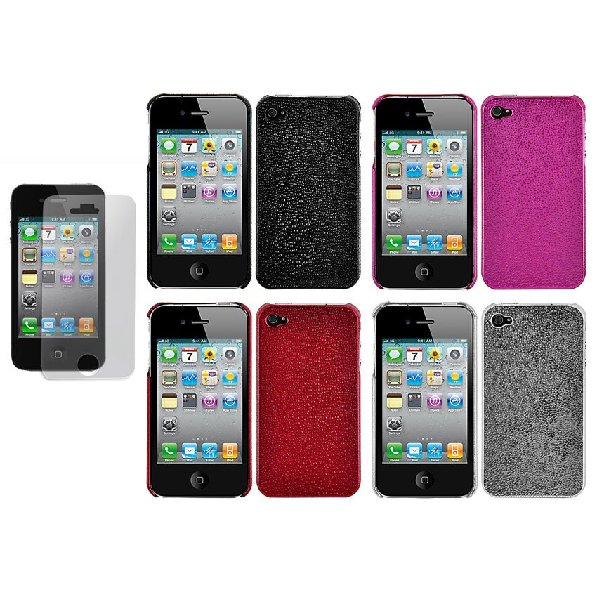 Water-drop Apple iPhone 4 Chrome Case with Screen Protector