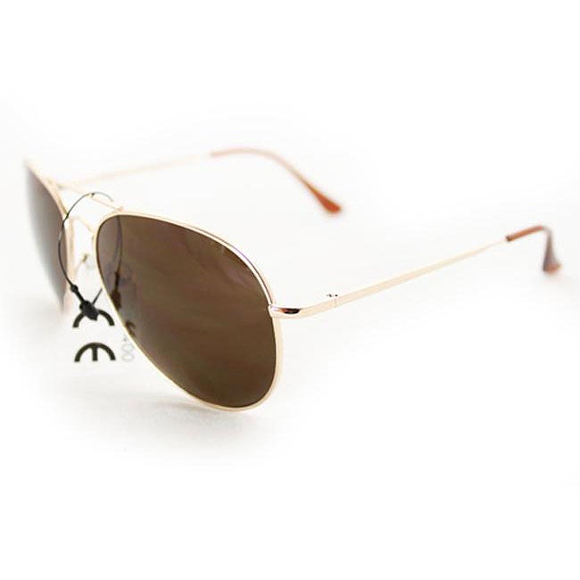 Women's 387 Gold Aviator Sunglasses