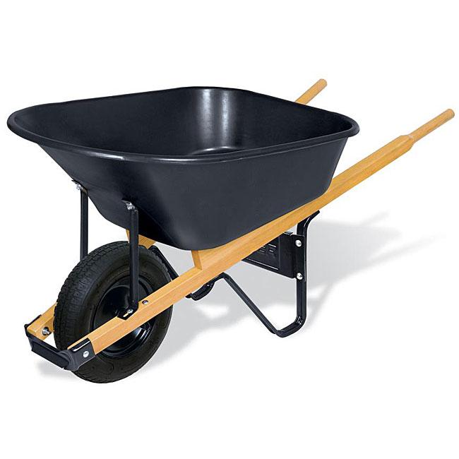 Truper 30355 6-cubic foot Poly Wheelbarrow