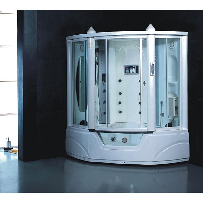 Steam Shower Jacuzzi Whirlpool Tub Combo with LCD TV