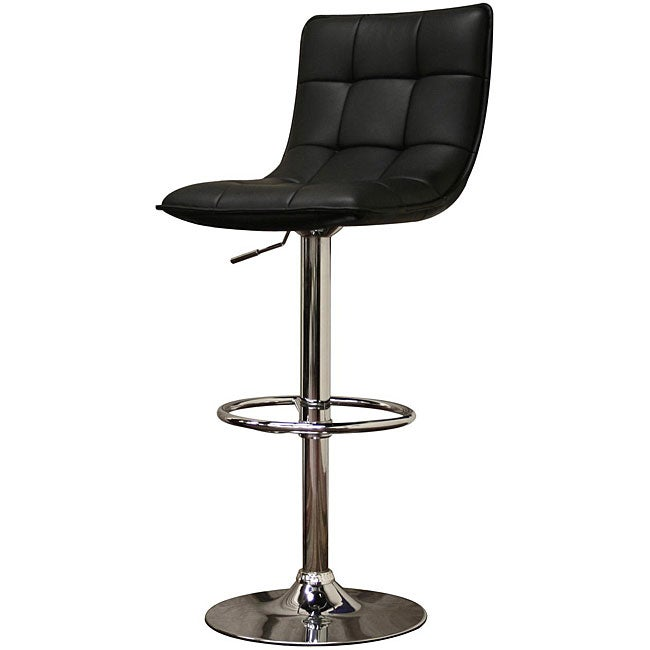 AT HOME by O Aleena Modern Black Faux Leather Bar Stools (Set of 2) at Sears.com