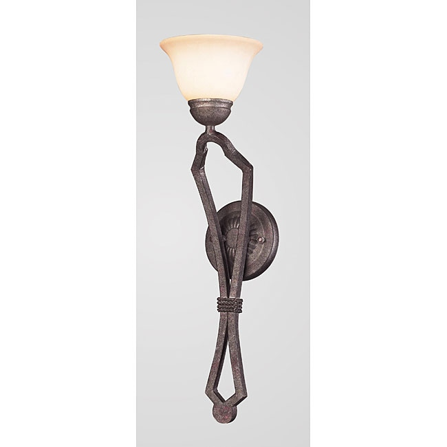 Indoor 1-light Mahogany Rust Wall Sconce