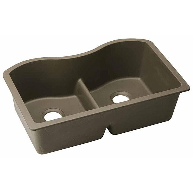 Elkay ELGULB332 E-granite 33x20.5-in Double-bowl Undermount Sink