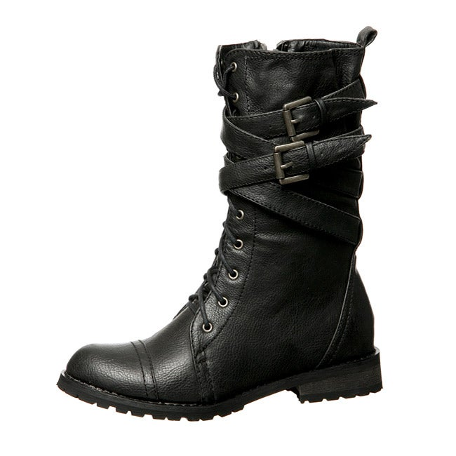 Groove Women's 'Canyon' Combat Boots