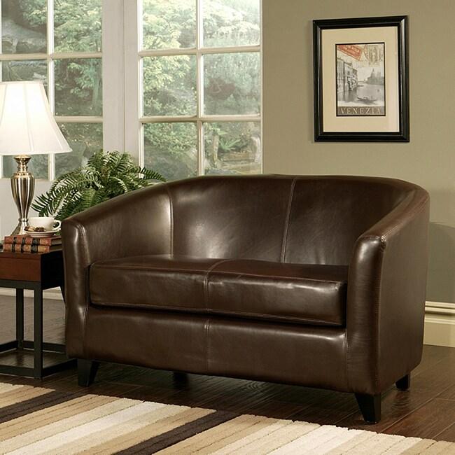 Montecito Leather Loveseat