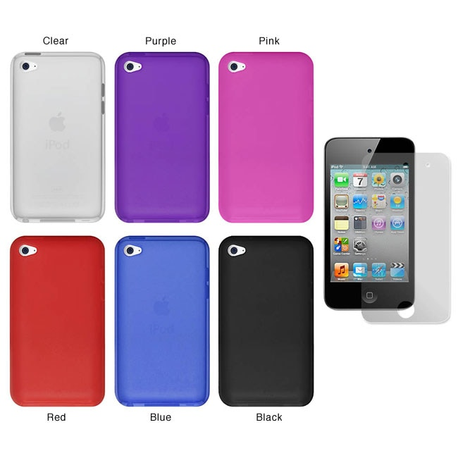Premium Apple iPod Touch 4th Generation Silicone Case with Screen Protector