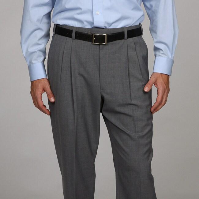 Austin Reed Men's Grey Pleated Dress Pants