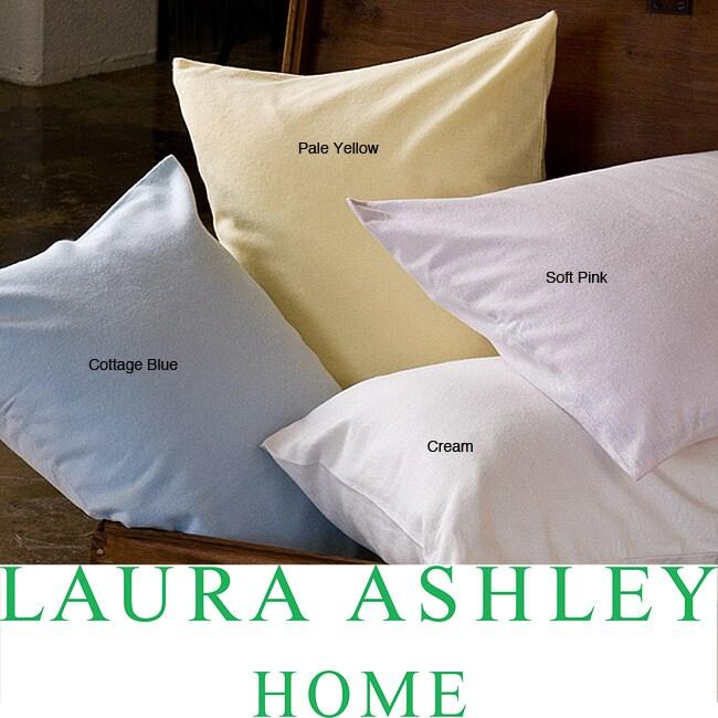 Laura Ashley Solid Flannel Sheet Set