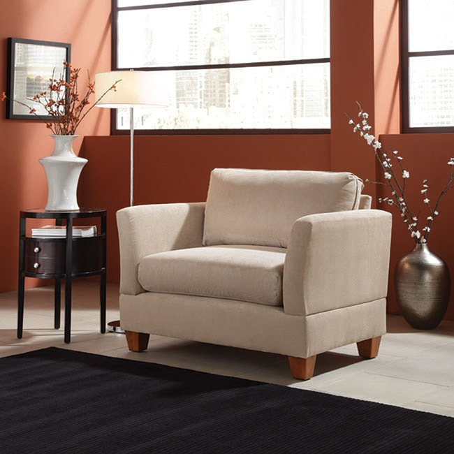 Microfiber Small Space 45 Inch Oversized Chair Overstock