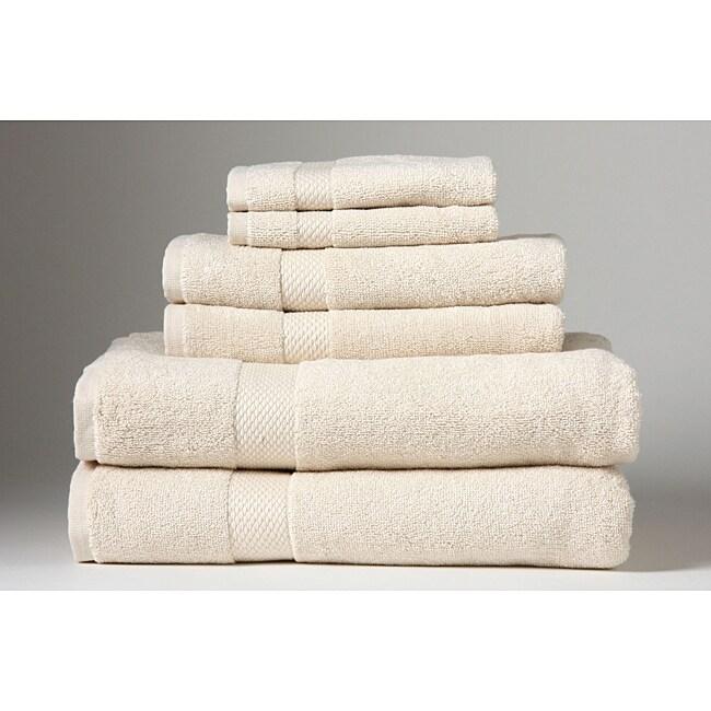 Turkish Organic Cotton Ecru 6-piece Towel Set
