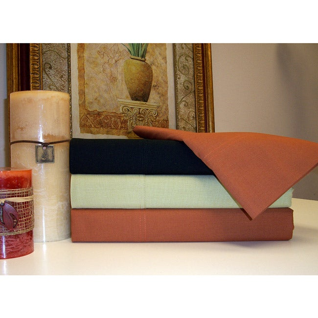Luxor Treasures Polyester/ Cotton Blend 200 Thread Count Sheet Set