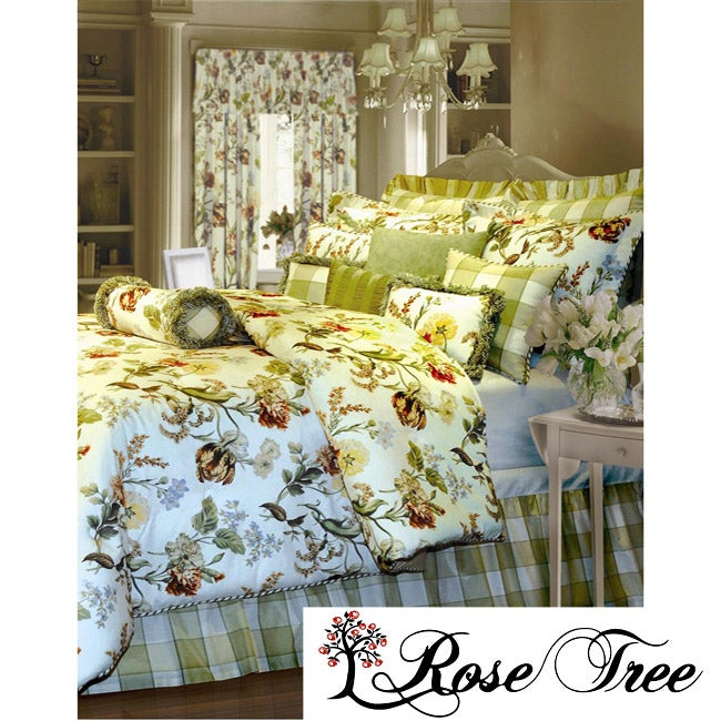 Rose Tree English Garden Queen-size 3-piece Comforter Set