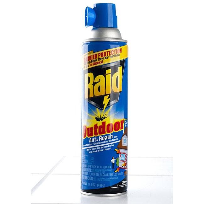 Raid Outdoor 17.5 oz Ant & Roach Killer (Pack of 4)
