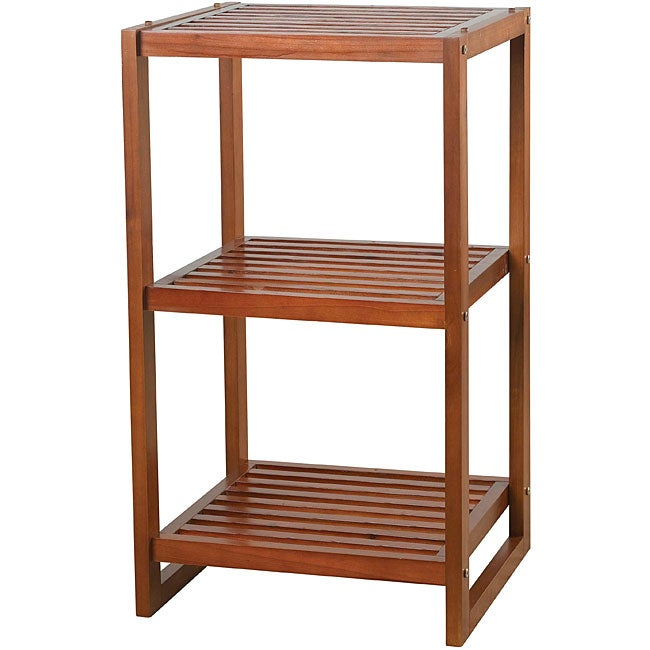 Cedar Cherry  Tier Vertical Storage Stacker Free Shipping On Orders