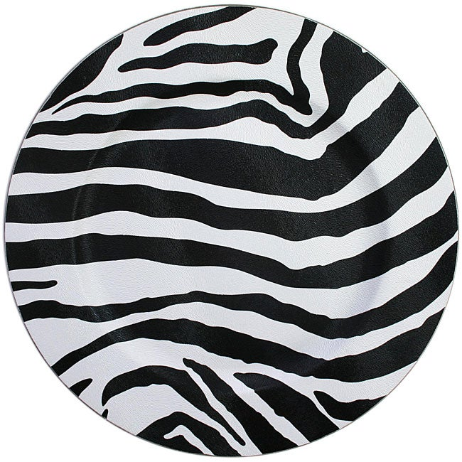 ChargeIt! by Jay Zebra Round Charger Plates (Pack of 4)