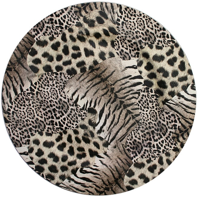 ChargeIt! by Jay Animal Print Round Charger Plates (Pack of 4)
