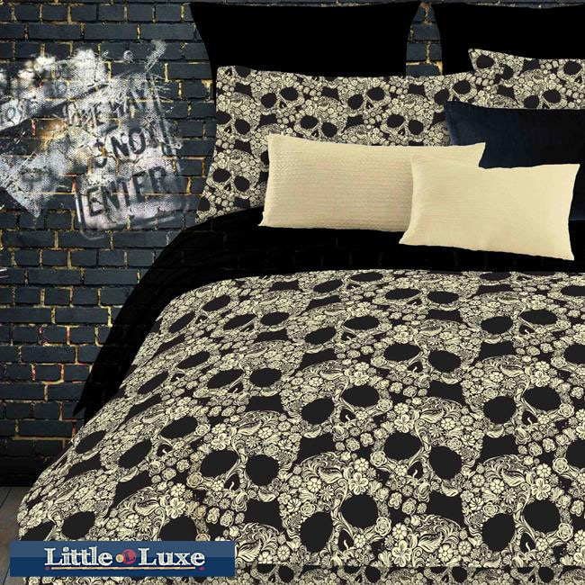 AT HOME by O Street Revival Flower Skull Full-size Bed in a Bag with Sheet Set at Sears.com