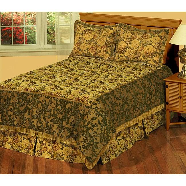 Calais Luxury Woven Jacquard Bedspread