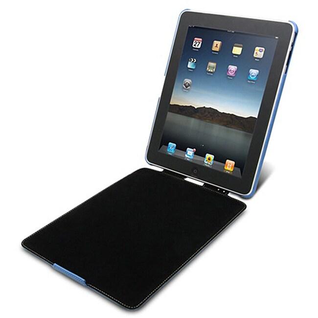 Mivizu iPad Azure Powder Blue Leather Case