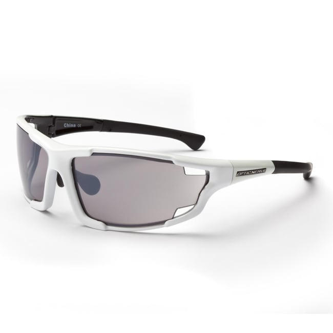 Optic Nerve Men's Autovaughn EX Shiny White Interchangeable Sunglasses