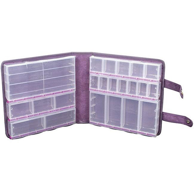 Craft Mates Lockables Purple Ultrasuede Large Organizer Case