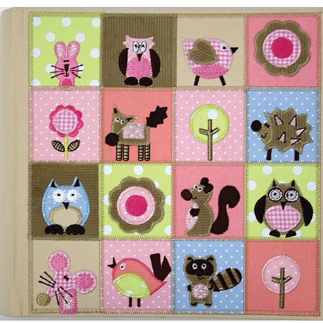 Amanda Blu Fabric 2-up Woodland Animals 4x6-in Photo Album