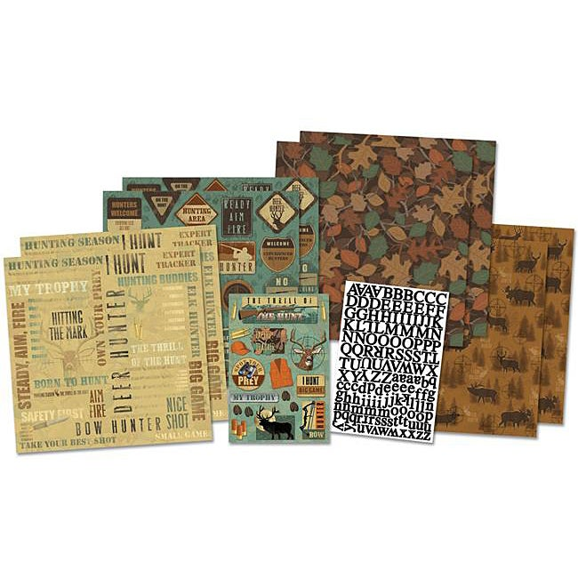Karen Foster On The Hunt 12x12 Scrapbooking Page Kit