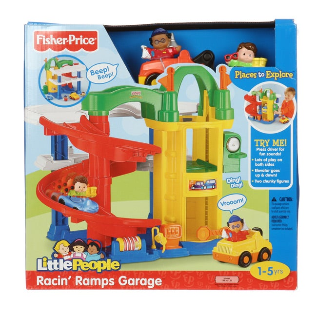 Fisher price little people 39 racin 39 ramps garage 39 toy set - Fisher price little people racin ramps garage ...