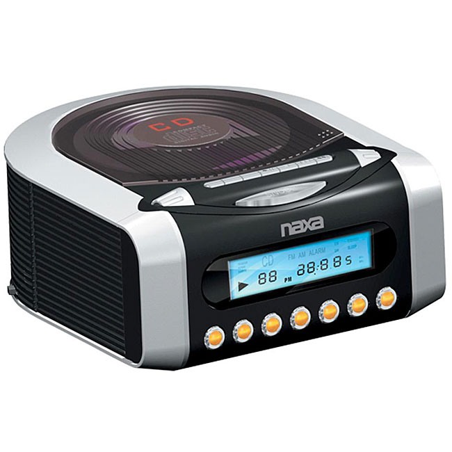 Naxa AM/ FM CD Digital Alarm Clock