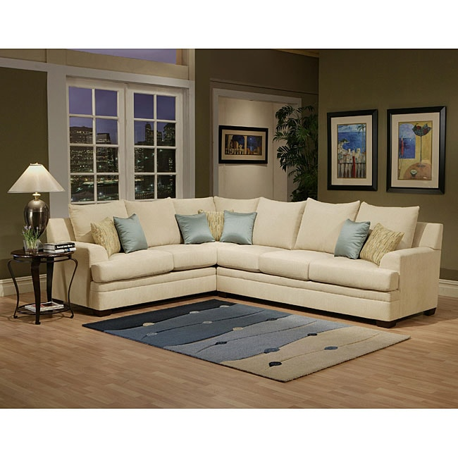 furniture of america pure joyce 2 piece chenille sectional sofa 13134740. Black Bedroom Furniture Sets. Home Design Ideas