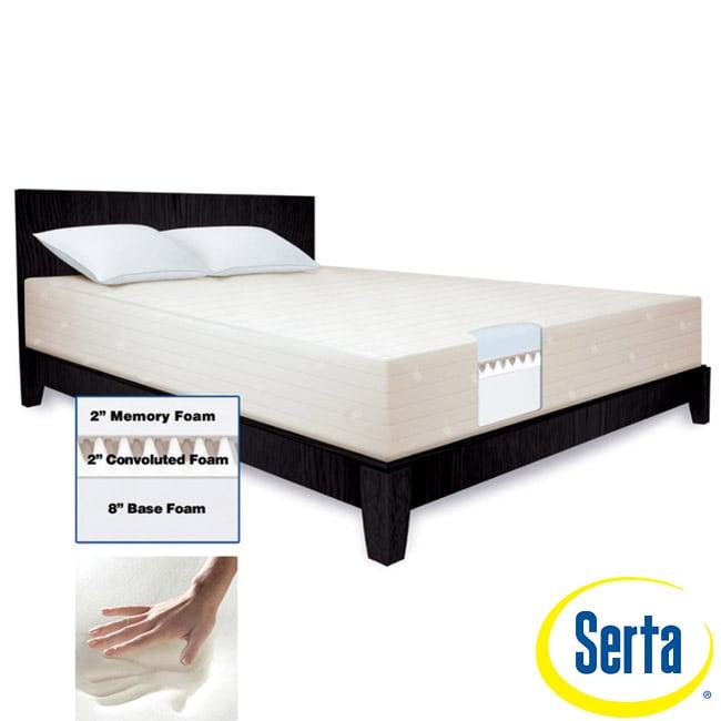 Serta 12 inch Queen size Memory Foam Mattress and Cover