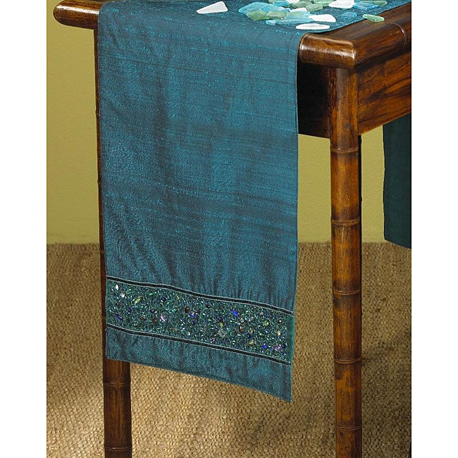 Peacock Collection Sapphire Blue Table Runner