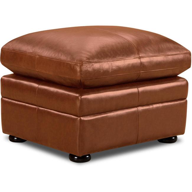 Parker Top Grain Leather Ottoman