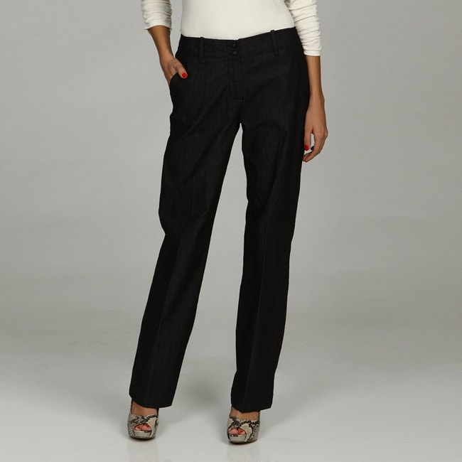 Larry Levine Women's Black Stretch Pants