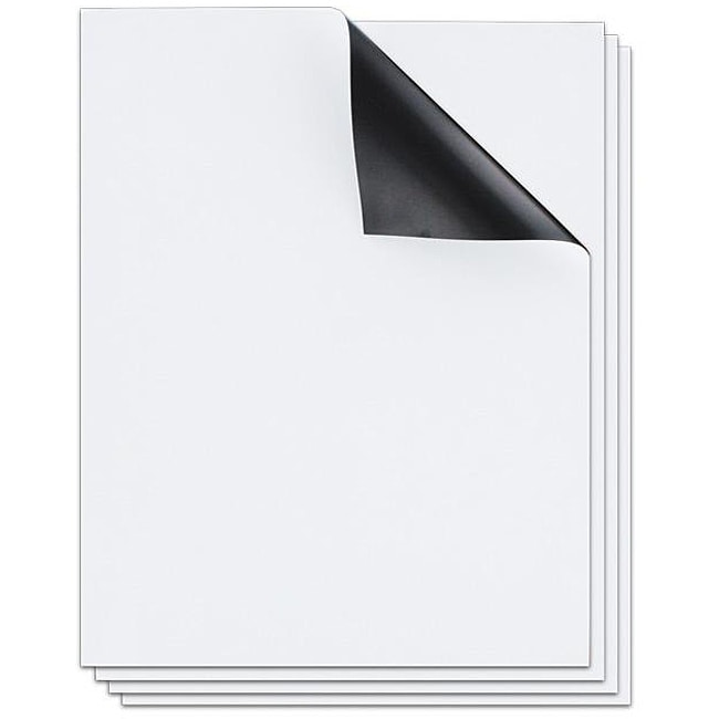Gloss White 8.5 x 11 Magnet Sheets (Pack of 12)