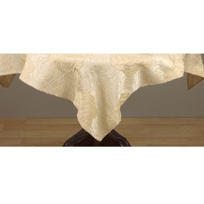 Champagne Rose Square Tablecloth