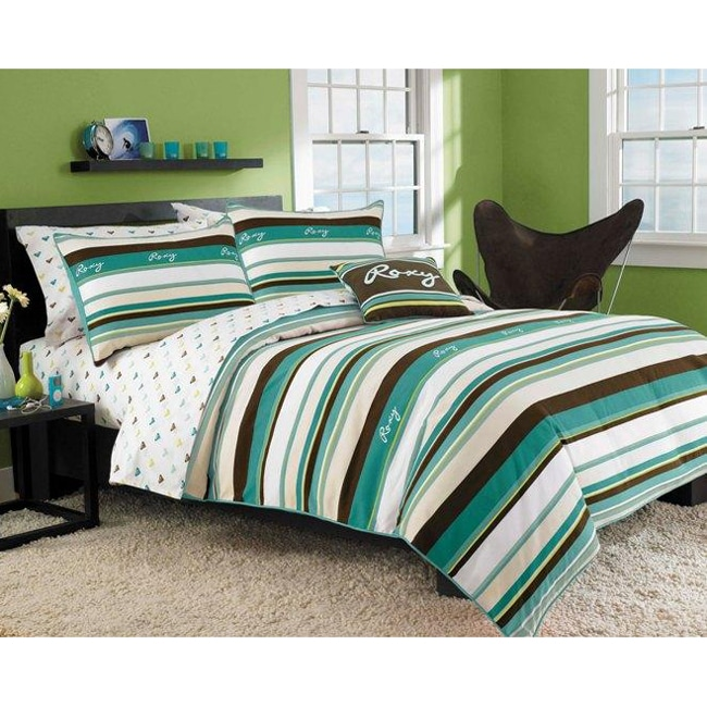 roxy brynn 8 piece full size bed in a bag with sheet set 13203928 shopping. Black Bedroom Furniture Sets. Home Design Ideas