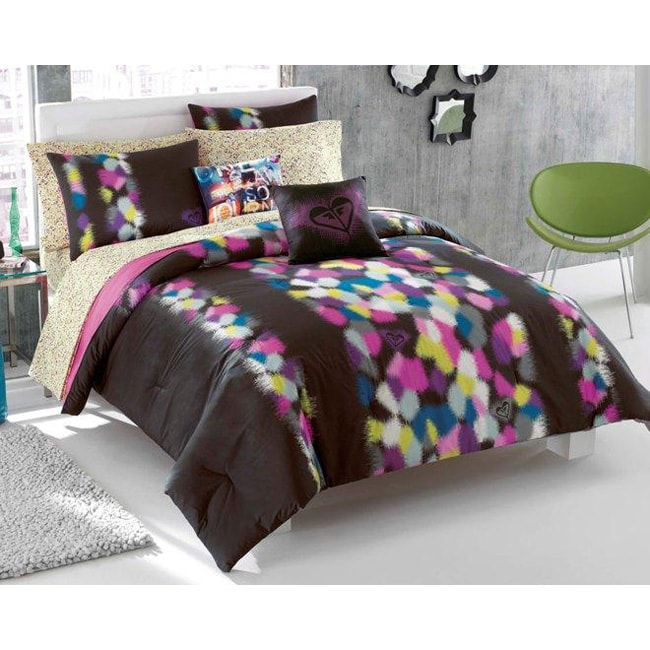 Roxy madison 7 piece twin xl size bed in a bag with sheet set