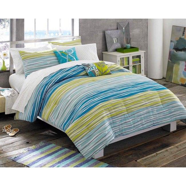 Roxy malibu 7 piece twin xl size bed in a bag with sheet set