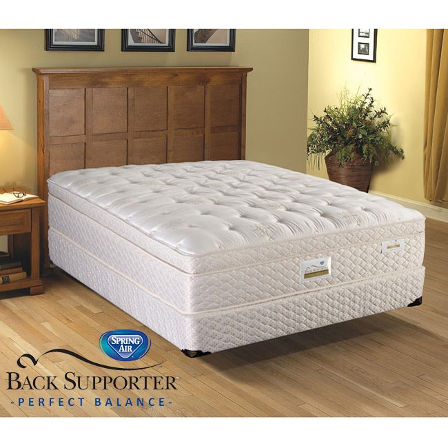 Spring Air Brookfield Euro Top Back Supporter Twin-size Mattress Set