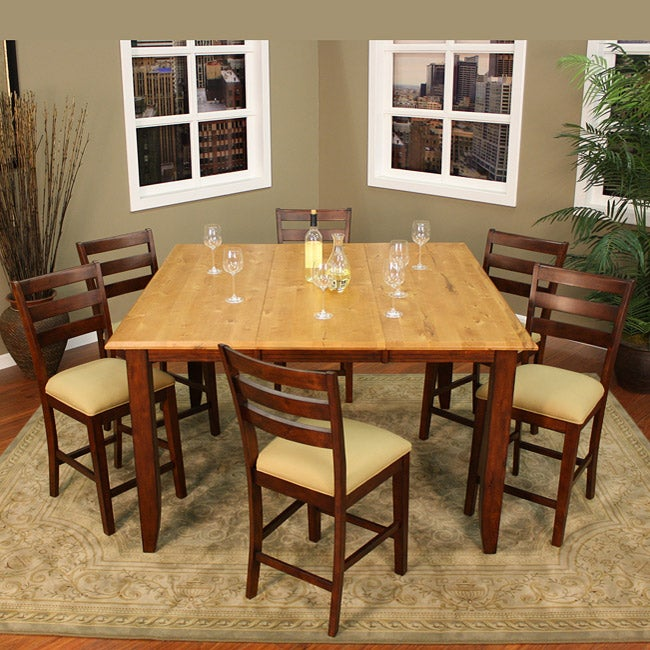 alexis 7 piece butterfly leaf counter height dining set 13207094
