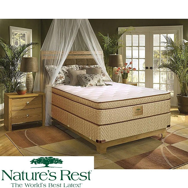 Nature's Rest by Spring Air Stratton Euro Top Zoned Latex Foam California King-size Mattress Set