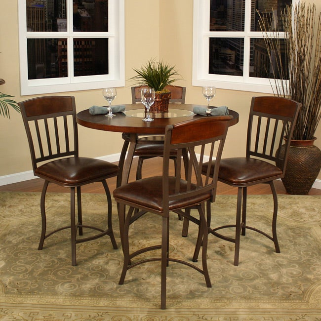 Halden Ginger Spice Metal 5-piece Dining Set