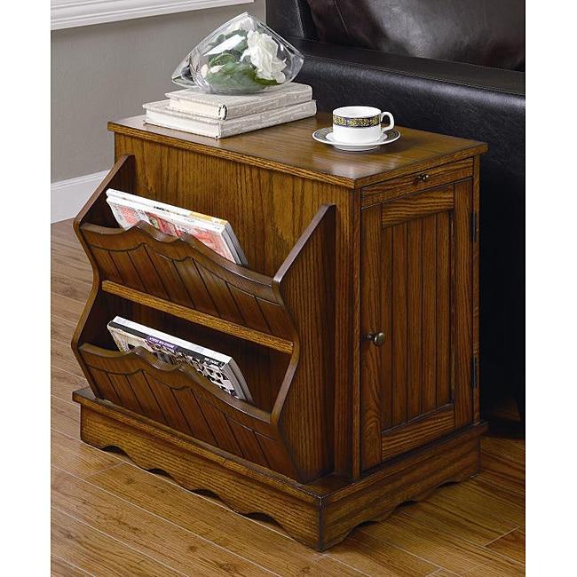 Willow Oak Magazine Rack/ Side Table