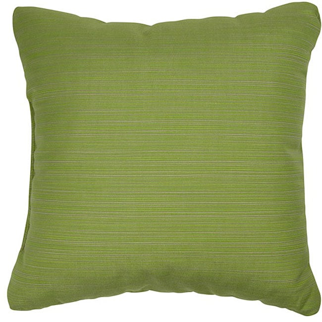 Lime 20 Inch Knife Edged Outdoor Pillows With Sunbrella Fabric Set